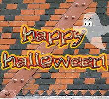 Halloween Greeting Card - Brick Wall in Philadelphia by MotherNature2