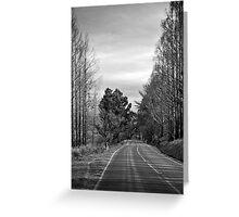 Desolate highway Greeting Card