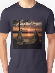 (◡‿◡✿) (◕‿◕✿) SUNSET COWBOYS PICTURE-PILLOW-TOTE BAGS- CELL PHONE COVERS ECT... (◡‿◡✿) (◕‿◕✿) Unisex T-Shirt