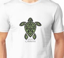 Black & Green Tribal Turtle Tattoo / Grand Cayman Unisex T-Shirt