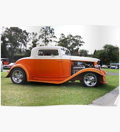 Orange Hot Rod Poster