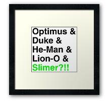 80s Helvetica Spectacular!!! Framed Print