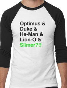 80s Helvetica Spectacular!!! Men's Baseball ¾ T-Shirt