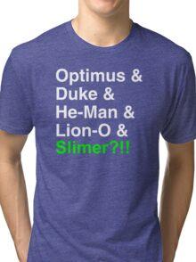 80s Helvetica Spectacular!!! (version B) Tri-blend T-Shirt