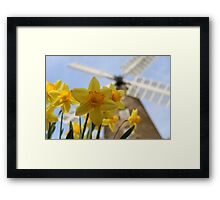 Windmill in Yellow Framed Print
