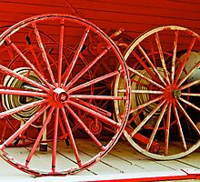 Wagon Wheels, Heritage Park, Calgary, Alberta by Laurast
