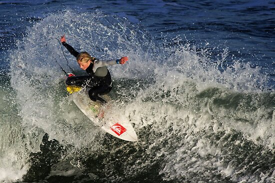 Surfing at Jan Juc by Darren Stones