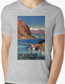 Vintage poster - Switzerland Mens V-Neck T-Shirt