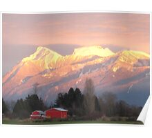 Fraser Valley Sunset Poster