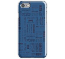 Doctor Quotes - Blue iPhone Case/Skin