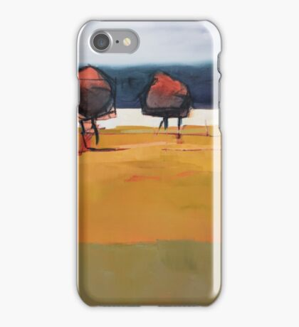 Red Trees Abstract Painting iPhone Case/Skin