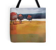 Red Trees Abstract Painting Tote Bag