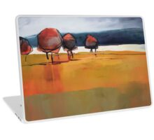 Red Trees Abstract Painting Laptop Skin