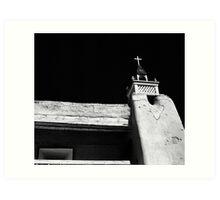 Tower of San Jose de Gracia de Las Trampas Church Art Print