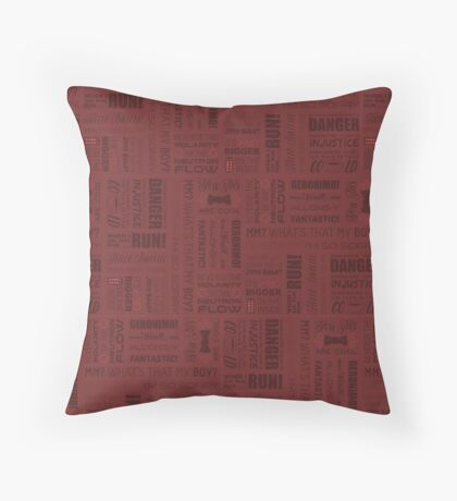 Doctor Quotes - Red Throw Pillow