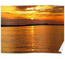 Sunset at Roanoke Poster