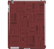 Doctor Quotes - Red iPad Case/Skin