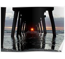 SUNSET-LARGS BAY Poster