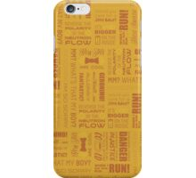 Doctor Quotes - Yellow iPhone Case/Skin
