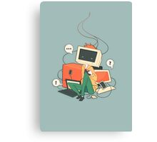 Cyber Kid Canvas Print