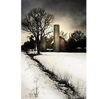 Winter Barn Photographic Print
