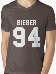 Justin Bieber - College style [WHITE] Mens V-Neck T-Shirt