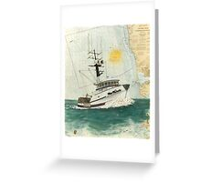 Crab Fishing Boat Miss Michelle Cathy Peek Nautical Map Greeting Card
