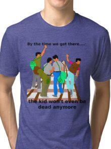 Kid on the tracks Tri-blend T-Shirt