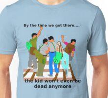 Kid on the tracks Unisex T-Shirt