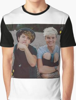 Kian and Jc Black Hearts Graphic T-Shirt