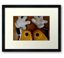 Oh no! What happened to Mickey? Framed Print