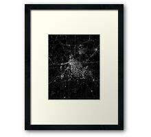 Tulsa map Oklahoma Framed Print