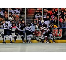 Scramble For The Puck Photographic Print
