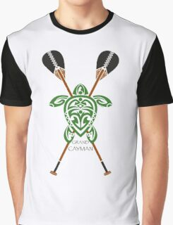 Green Tribal Turtle 2 Stand-Up / Grand Cayman Graphic T-Shirt