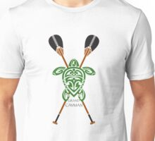 Green Tribal Turtle 2 Stand-Up / Grand Cayman Unisex T-Shirt
