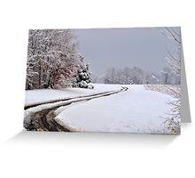 Southern Illinois Winter Scene 6_ Dec 2012 Greeting Card