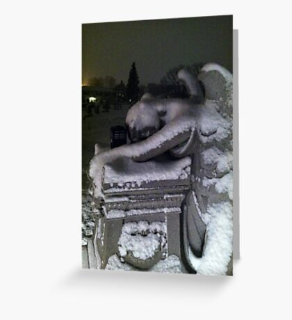 The Angel and The Phone Box 2 Greeting Card