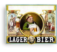 Vintage German Lager Bier Advertisement Canvas Print
