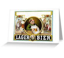 Vintage German Lager Bier Advertisement Greeting Card
