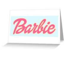 Barbie Logo Greeting Card