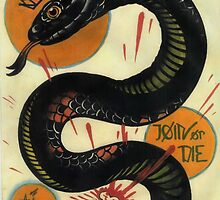 join or die, socialist black snake, tattoo art by resonanteye