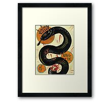 join or die, socialist black snake, tattoo art Framed Print