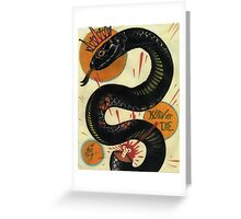 join or die, socialist black snake, tattoo art Greeting Card