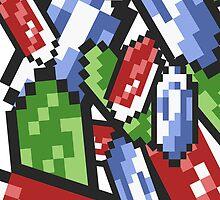 Zelda - Rupees by Jaelachan