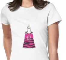 The Katy Bag / Black & Fuchsia Fantasy Zebra Womens Fitted T-Shirt