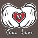 TRUE LOVE - INITIALS - M by mcdba