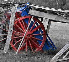 Old Farm Wagon by David Wanden