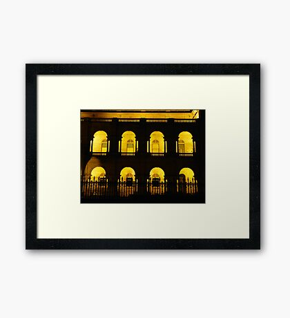 16 arches Framed Print