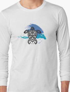 Tribal Turtle Maui Long Sleeve T-Shirt