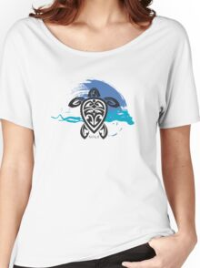 Tribal Turtle Maui Women's Relaxed Fit T-Shirt